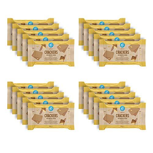 Amazon-Marke: Happy Belly - Dinkel-Cracker, Gruyère-Käse, 4 x 190 g