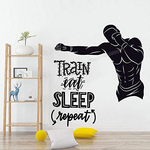 Etiqueta engomada de la pared del papel de la sala de estar del vinilo del sueño comestible del boxeo