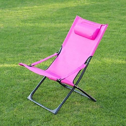 Scotrade G19 Tropic Garden Relaxer Deck Textilene Fabric Coloured Chair Built-in Pillow - Pink