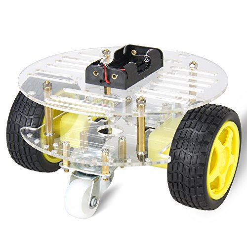 Double Drive 3 Rounds Smart Car Chassis / Motor Robot Car Chassis Kit / Avoidance Car