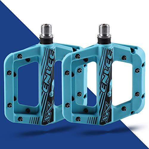 LS LETONG SINIAN Pedali per Bici in Nylon Antiscivolo, Pedale Cuscinetti in Alluminio con Antipolvere Leggeri, 9/16' Universali per BMX/MTB/Biciclette Pieghevole/Bici da Strada (Blu)