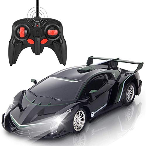 Coche teledirigido, juguete infantil, coche teledirigido electrónico, coche de carreras a escala 1:20, con luces iridiscentes, juguete de carreras de alta velocidad