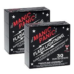commercial Set for lightening hair Manic Panic Flash Lightning (2 pcs) Volume, 30 cream developers for hair clarifiers … hair bleach kit