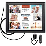 Antennas Direct ClearStream View Wall Frame Amplified Indoor TV Antenna, 50+ Mile Range
