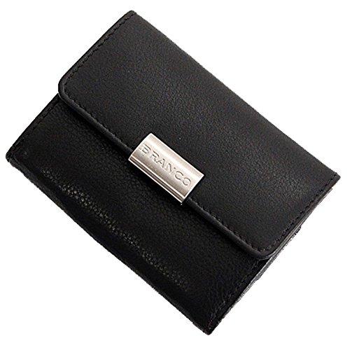 GoBago Branco Mini Leder Geldbörse Geldbeutel Portemonnaie Börse 9x7x2cm (Schwarz)