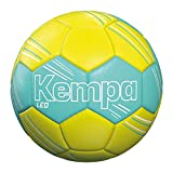 Kempa Unisex– Erwachsene Leo Handball, türkis/Fluo gelb, 0