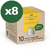 BANDOLERO 80 capsule compatibili Nespresso, Camomilla, capsule compostabili Nespresso, Made in Italy, senza zuccheri aggiunti cialde Nespresso compatibili in confezione salvafreschezza