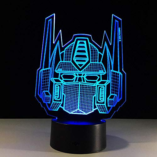 Transformers Shape 3D Illusionslampe Nachtlicht Baby LED Acryl Fernschalter Kristalllampen USB Schlafzimmer Wohnzimmer Licht Schreibtischlampe