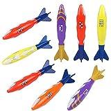 Akokie Torpedo Dive Sticks 8 PCS Unterwasser Schwimmbad Bandits Pool Tauchspielzeug tauchset Kinder...