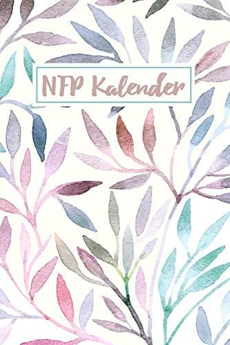 NFP Kalender: Zyklus Tagebuch und Menstruationskalender zur symptothermalen Verhütung und natürlichen Familienplanung | ca A5 im Aquarellzweig Design