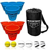 Bucket Ball - Beach Edition Combo Pack - Ultimate Beach, Pool, Yard, Camping, Tailgate, BBQ, Lawn, Water, Indoor, Outdoor Game – Best Gift Toy for Adults, Boys, Girls, Teens, Family