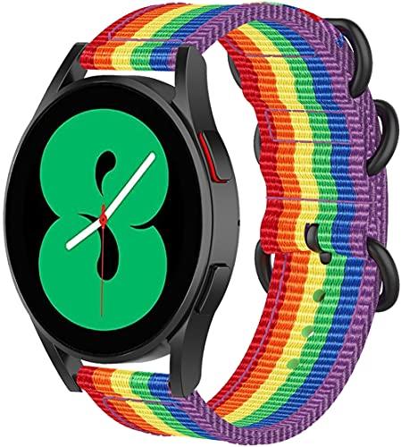 Gransho compatível com Garmin Forerunner 245 / Forerunner 245 Music Pulseira de Relógio, Pulseira de Reposição de Pulseira Esportiva de Tecido de Lona Para Relógio Inteligente (20mm, Pattern 2)