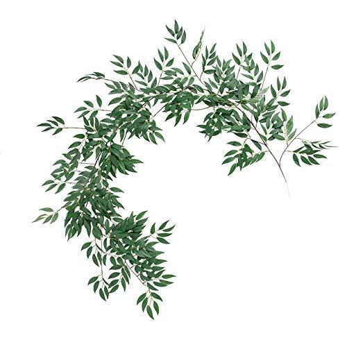 JXLB planta simulada mimbre vid hogar plástico vid hoja verde decoración