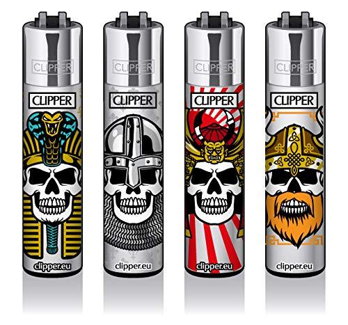 Clipper® Feuerzeuge - Skulls #15-4er Set