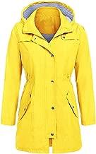 Women's Outdoor Super Plus Size Pure Color Hooded Jackets Waterproof Rainproof Windproof Windbreaker Coat Tops