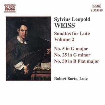 WEISS: Lute Sonatas, Vol.  2 (Barto) - Nos. 5, 25, 50