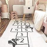 TK-Gruppe KT Baby Hopscotch Alfombra de Juego para niños, para Actividades y Juegos de Gimnasio, con impresión de Dibujos Animados, Alfombra de Aventura para niños, Alfombra de Camino de 72 x 170 cm