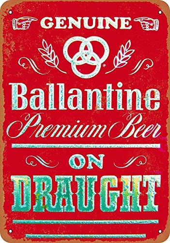 Inga Letrero de metal con diseño de cerveza Ballantine Beer Retro Wall Decor Bar Cafehome Vintage Metal Sign 8 x 12 pulgadas