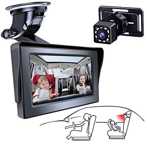 아기 자동차 미러 아기 뒷면 좌석 카메라 넓은 싱거운보기 모니터 멋진 야간 투시도 조정 가능한 빨판 브래킷 아기의 움직임을 쉽게 관찰하는 아기 자동차 시트 미러 카메라