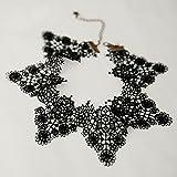YC CY Collar de Cuello de Encaje Collar de Collar de Clavícula Corta Femenina,Abadejo