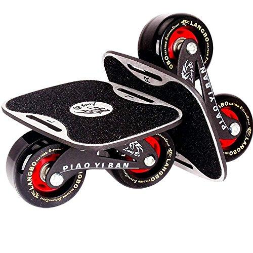 TANG SHI Freeline Drift Skates Sports mit 70 mm PU Räder und ABEC 7 Kugellager