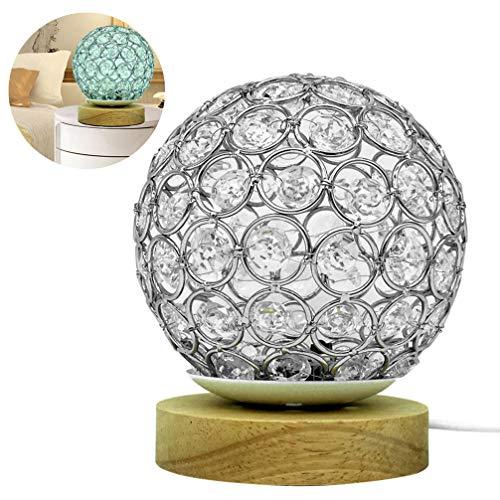 Mobestech Moderne Tafellamp Kristalglas Bolvormig Usb Nachtkastje Bureaulamp 16 Kleuren Veranderen Afstandsbediening Voor Thuis Slaapkamer Nachtkastje Woonkamer
