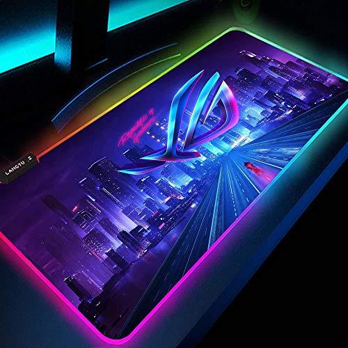 Alfombrilla De Ratón Warframe RGB Alfombrilla De Ratón De Tela para Juegos con Superficie Texturizada De Primera Calidad para Ratón De Sobremesa 800X300X4Mm D