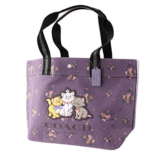 COACH X Disney Aristocat Floral Canvas Tote in Dusty Lavender 91130