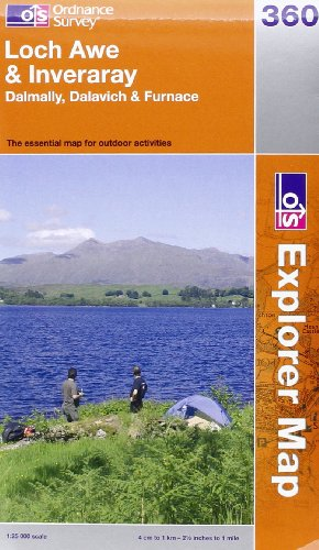 OS Explorer map 360 : Loch Awe & Inveraray