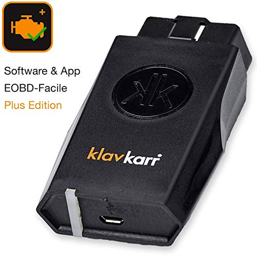 petit un compact klavkarr 210 – Mallette de diagnostic voiture Bluetooth OBD2 multimarque – 100% français – Connecteur OBD…