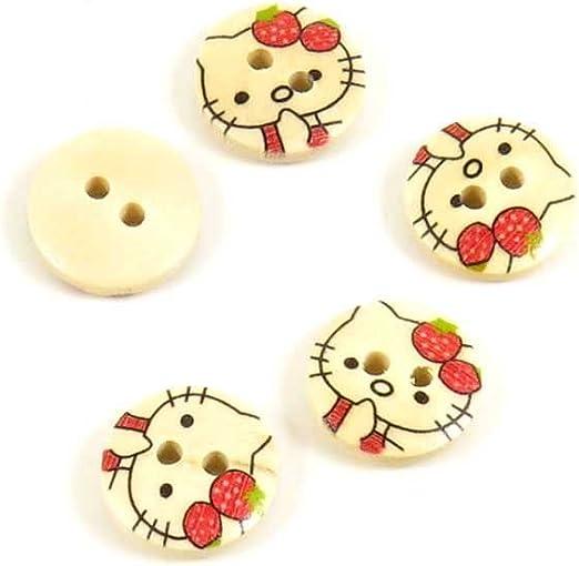 And Bird Button Yellow Animal Retro Sewing Fashion Kids Craft Vintage CAT Buttons on Original Card Cute Kitten Children Novelty