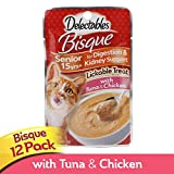 Delectables Bisque Senior Lickable Wet Cat Treats - Tuna & Chicken, 15 years (Pack of 12)