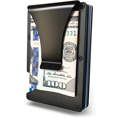 Minimalist Wallet For Men - RFID Blocking Anti-Theft Slim Aluminum Wallet With Money Clip - Credit Card, ID Card & Passport Holder, Elegant & Durable Minimalism Wallet