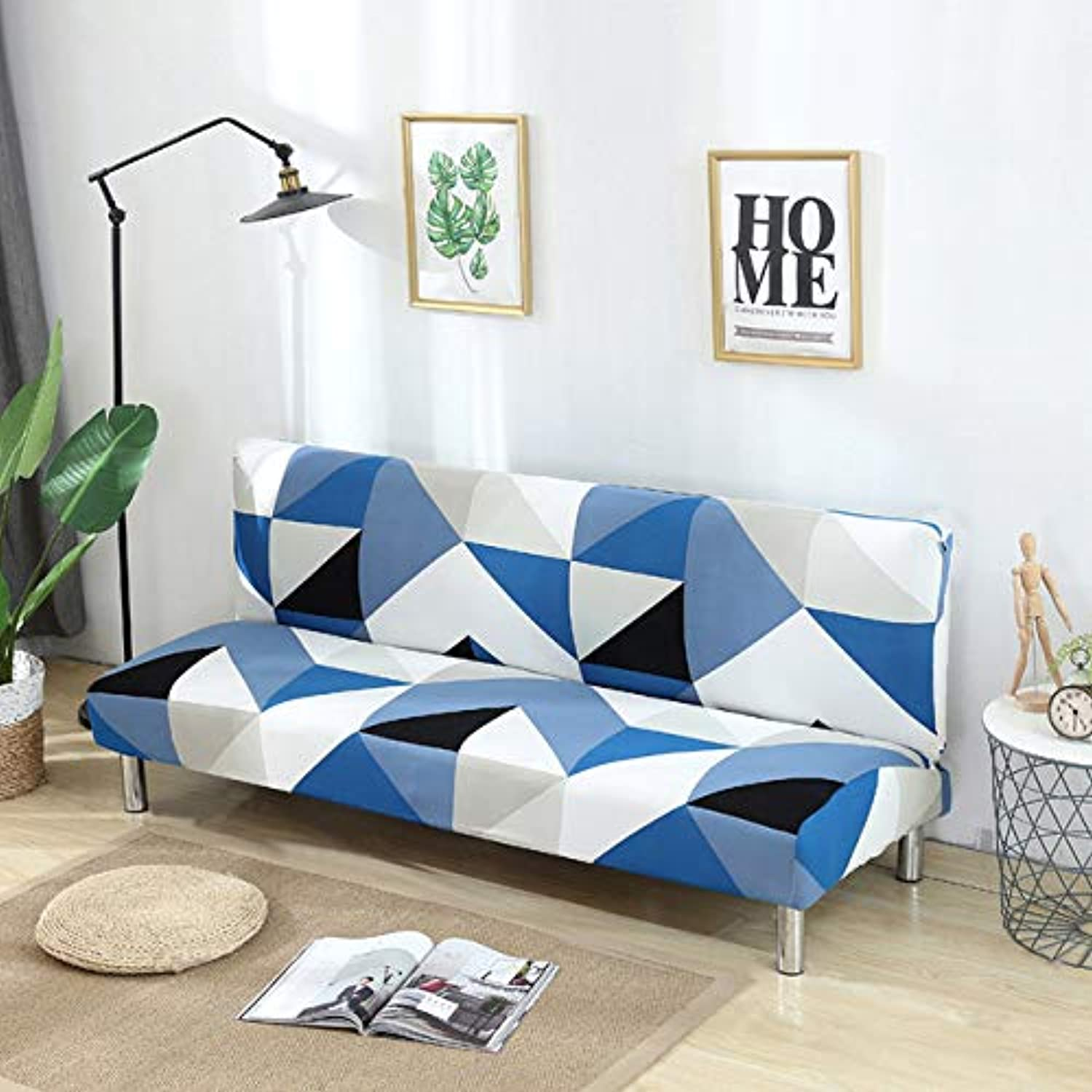 Elastic Sofa Cover Without Armrests All-Inclusive Slipcover Slip-Resistant Couch Covers for Living Room Stretch Furniture Covers   color 2, 160 to195cm