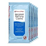 Pharma-C-Wipes Water Activated Bathing Cloths - Rinse Free - Thick, Pretreated Washcloths (6 Packs of 10 Cloths)
