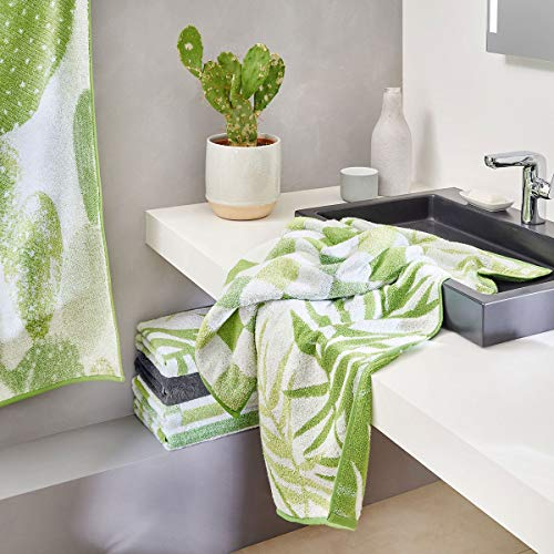 Dyckhoff Frottierserie Green Paradise Cactus, Handtuch 50x100 cm