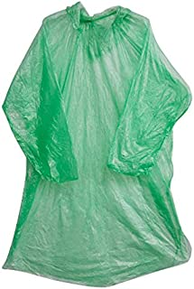 RETYLY 10点ポンチョレインコート、テーマパーク用使い捨て緊急レインカバージャケット