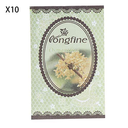 Xuniu 10 Pièces Épices Naturelles Désodorisant Parfum Sachets Sac en Papier Voiture Maison Parfum