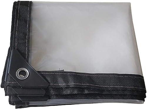 HCYTPL Tente antipluie de Tissu en Plastique extérieur Clair de bache Claire pour la bache de pêche de Camping avec des Oeillets, épaisseur 0.13mm,4X6m