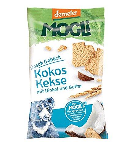 MOGLi Bio Demeter Kokos Dinkel Kekse 50g 12er Pack, (12 x 50 g)