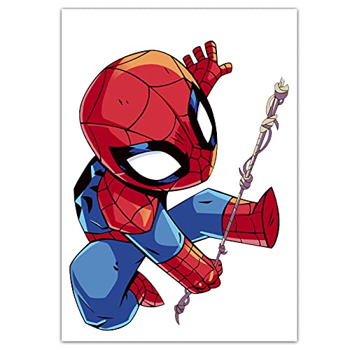 LVLUO Pegatina de Maleta de Dibujos Animados de Spider-Man, Maleta para portátil, Guitarra, monopatín, Pegatina de Pared a Prueba de Agua