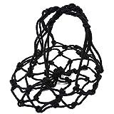 Pinhan - Bolsa de malla de nailon portátil para balón de fútbol, voleibol, baloncesto, etc., color negro, tamaño 56 cm