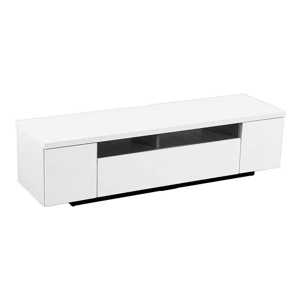 抵抗力がある計画的追うシンプルで美しいスタイリッシュなテレビ台(テレビボード) 木製 幅140cm 日本製?完成品 |luminos-ルミノス- ホワイト