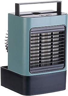 GGJJ ZHZZ Refrigeración Ventilador del Aire Acondicionado, luz de la Noche Negativo Ion Pequeño fría de purificación de Aire de humidificación Multi-función de la Temperatura Constante rápida,Verde