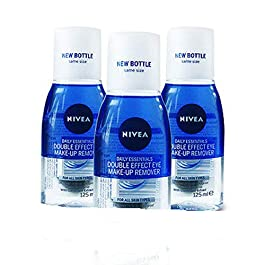 3 X NIVEA Eye Make-Up Remover Double Effect, 125ml