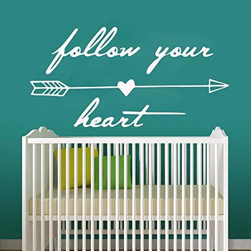 Färgglad följ ditt hjärta väggmålning avtagbar väggdekal sovrum barnkammare dekorativ väggkonst dekal väggmålning A5 43 x 85 cm
