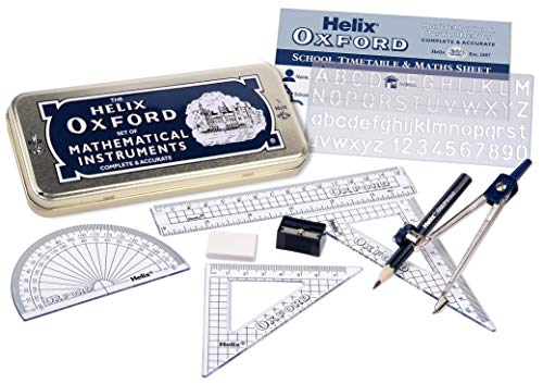 Oxford Helix Maths Set with Storage Tin
