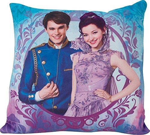 FUN HOUSE 712488 Disney Descendants Coussin carré 35 x 35 cm pour Enfant, Poly Coton, Violet, 35 x 14 x 35 cm