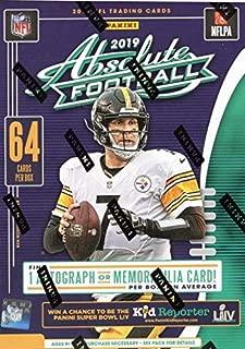 2019 Panini Absolute NFL Football BLASTER box (64 cards, ONE Memorabilia or Autograph card)