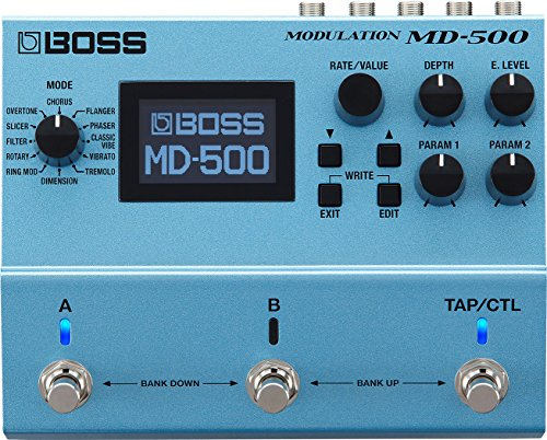 BOSS mD-500 Modulation Pedal, 12 Modes and 28 Modulation Types, Studio-Level Sound with first-in-Class 32-bit AD/DA, 32-bit Floating Point Processing, and 96 kHz Sampling Rate